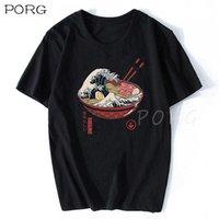 Great Ramen Wave La Grande Wave di Kanagawa Giappone Moda Vestiti coreani Ulzzang Estetic Tshirt Cotone Anime T-shirt 210610
