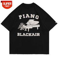 LACIBLE Piano letters Print Tees Shirts Streetwear Hip Hop Harajuku Casual Tshirts 2021 Men Fashion Oversized Short Sleeve Tops #eZ52