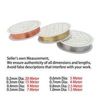 1 لفة المعادن الأسلاك النحاسية الديكور سلك ضياء 0.2 0.3 0.4 0.5 0.6 0.8 0.8 1 ملليمتر الخرز الأسلاك لصنع المجوهرات WMSSUQ