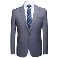 Men's Suits & Blazers Blazer Business Slim Official Solid Color Groom Dress Coat High Quality Plus Size Fashion Suit Formal Wear Jacket