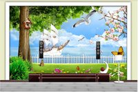 Custom photo wallpapers for walls 3d murals Modern and fresh seaside scenery beautiful seascape Mediterranean style TV background wall papers home decoration