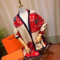 Elegante sciarpa moda pashmina sciarpe cashmere grande fiore design per uomo donne scialle collo lungo 8 colori di qualità superiore
