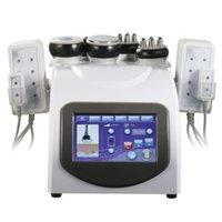Slimming 6 in 1 Professional 40K Ultrasonic Cavitation RFMachine Radio Frequency Laser 8 Pads Multipolar Lipo Beauty Machine