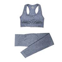 2/3 / 5 adet Kıyafet Dikişsiz Kadın Yoga Set Egzersiz Spor Gym Giyim Giyim Spor Uzun Kollu Kırpma Üst Yüksek Bel Tayt Spor Takımları 14