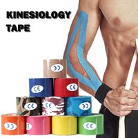 Kinesiologia Tape Esporte Atletismo Elastic Joelho Brace Suporte Cotovelo Protetor Pad Voleibol Bandagem Kinesio Fixer Fita Pulseiras