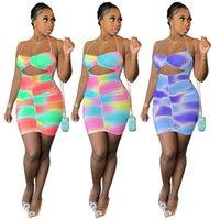 여성을위한 캐주얼 드레스 2021 패션 의류 벤치 인쇄 된 Pleated 미니 클럽 드레스 새로운 목록 여름 DHL