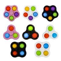 Lanière Fidget Simple Toys De Fête Festive Pièce Festive Fournitures Bubble Poppers Bague Touche Push Pop Spinner Board Stress Stress Relief Décompression Decompression Foimer Q6