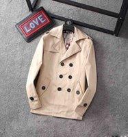 Klassische heißer Verkauf von Herrenjacke Damenmode-mittelgroße Trenchmantel / britischer Designer Zweibrustiger schlanker Gürtel