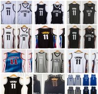Neue Nähte Basketball Jersey Männer 2021 Stadt Schwarz Blau Irving 11 Kyrie Jersey Basketball 1 College NCAA Hemden Weiß Grau Farbe Jugend S-2XL