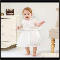 Vestidos vestidos de bebê bebê crianças maternidade entrega entrega 2021 nascido batismo vestido meninas princesa 024m sólido algodão de algodão back bow strap festa tutu