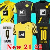 20 21 Borussia Dortmund maglia da calcio HAZARD SANCHO HUMMELS BRANDT 2020 2021 maglia da calcio HAALAND REUS BELLINGHAM MEN kids kit maillot de foot 4th