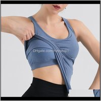 Outfits Chaleco con cofre Cojín de yoga Tops Vesbra Fitness Fitness Mujer Sport Sexy Shirt Gym Sports Sports Top Entrenamiento Ropa Carrera 8R22M VDIEN