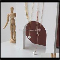 Ciondolo collane ciondoli gioielli consegna consegna 2021 picco di grano perla a forma di y sile regolazione perline collana collana catena clavicola braccialetto set t