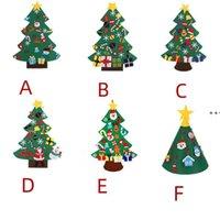 녹색 DIY는 크리스마스 트리를 펠트 크리스마스 선물 크리스마스 선물 새 해 벽 매달려 크리스마스 장식 키즈 수동 액세서리 NHE8735