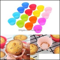 Kitchen, Dining Bar Home & Garden7Cm Sile Muffin Cupcake Mods Cake Round Shape Bakeware Maker Mold Colorf Tray Baking Cup Liner Molds Drop D