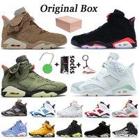 Nike Air Jordan 6 6s Travis Scott retro 6 최고 품질의 Jumpman 트래비스 스캇 6 기가 선인장 잭 여자는 토끼 6 DMP 적외선 블랙 오레곤 망 트레이너 스니커즈 오리 농구 신발 망
