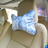 Cabeza de coche impreso Cuello de almohada Toon Asiento trasero Amarillo encantador Cojín interior