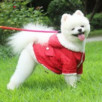 Dog Apparel Fenice S-XL Super Warm Clothes Winter Plus Velvet Pet Jacket For Small Dogs Hoodies Coat Puppy Clothing Chihuahua