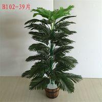 90cm 39 머리 열대 식물 대형 인공 야자수 가짜 몬스터 실크 팜 잎 거짓 식물 가정 정원 장식 2175 V2에 대 한 leafs