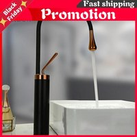 White And Rose Gold Bathroom Basin Faucet Tall Short 360 Rotation Brass Tap Cold Water Sink Mixer Black Faucets