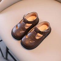 Zapatos planos cuzullaa niños primavera otoño cuero niñas princesa suela suave vestido 1-6 años niños Casual Pisos Tamaño 21-30