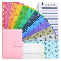 Budget Envelopes With A6 Binder,12 Durable Waterproof Plastic Cash System For Planner Gift Wrap
