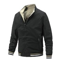 Men's Jackets Capless Business Casual Jacket Stand-up Collar Double-sided Wear Thin Section Foreign Trade Clothing