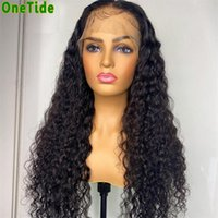 Lace Wigs ONETIDE 30 Inch Afro Kinky Curly Front Wig Brazilian Deep Human Hair T Part Frontal Closure