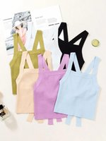 Women's Tanks & Camis 2021 Fashion Brand Women Tank Top Vests Casual Short Solid Polyester Lady Beach Girl