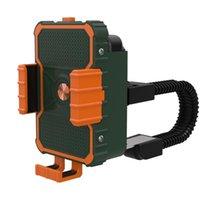Porte-téléphone portable supports porte-vélos pour support de support de support mobile support de support GPS avec slot de batterie Conception humanisée verte
