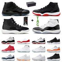 NikeAirJordanRetro11Jordans11sJumpmanAJ 2021 presente com caixa sapatos de basquete homens mulheres 11s citrus baixo 25o alimentação boné e azul engarrafado sneakers