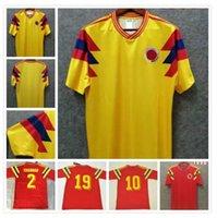 1990 كولومبيا Valderrama Gurrero الرجعية رجالي كرة القدم الفانيلة EscoBar Memoria الصفحة الرئيسية قميص كرة القدم الكلاسيكية