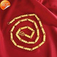 Vendite dirette della fabbrica Grandi collane degli uomini di grandi dimensioni addensati Boutique Gold Zhaocai Solid Rame Coin all'ingrosso CC362-6x60