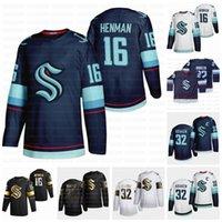 Seatle Kraken 2021 16 Luke Henman 32th Team Hockey Jersey Personnalisé Toute nom et numéro Tout cousu