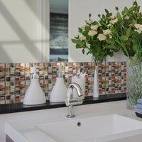 Duvar Kağıtları 10x10 CMX20 ADET Kristal Mozaik PVC Su Geçirmez Kendinden Yapışkanlı Duvar Sticker Kiremit Çıkartmaları Mutfak Banyo Mobilyaları Zym-006