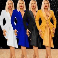 Women's Tracksuits Blazer Dress Women Two Piece Outfits 2021 V Neck Sexy Long Sleeve Bodycon Jacket Celebrity Club Party Shorts Evening