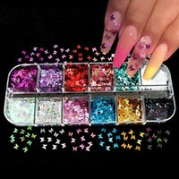 Nail Art Decorations 3D Holographic Butterfly Sequins Sparkly Laser Colorful Glitter Flakes Set For Design Gel Acrylic