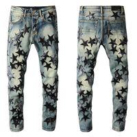 2021 Amiry New Herren Luxus Designer Denim Jeans Löcher Hosen Biker Hosen # 694