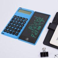 LCD الرسم الرقمي الرسم الكتابة اللوحي الكتابة اليدوية المحمولة الإلكترونية العلمية الصمام عرض المفكرة آلة حاسبة لوحة البطارية مع القلم ل مكتب الاطفال