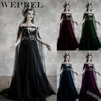 Spitze außerhalb der Schulter Königin Kleid Cosplay Kostüm Maxi Kleid S-5XL Plus Größe Frauen mittelalterliche Renaissance Casual Kleider