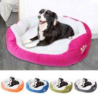 Kennels & Pens Waterproof Bottom Dog Sofa Bed Fleece Pet Winter Warm Mat Cat Thicken Mattress Puppy Kennel Cushion Accessories #GM