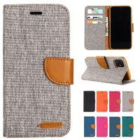 Джинсовые смешанные цвета PU кожаный флип чехол для iPhone 12 11 Mini Pro X XS XR MAX 5 6 S SE 7 8 PLUS 2020 кошелек крышка Capa Capa