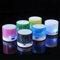 A9 무선 블루투스 미니 스피커 LED 컬러 플래시 스피커 FM 라디오 TF 카드 USB 아이폰 휴대 전화 PC