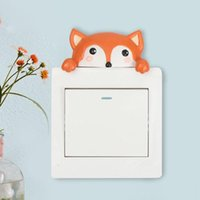 Wall Stickers Cute Cartoon Animals Switch Sticker Case Living Room Bedroom Bathroom Protective