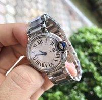 السيدات الصلب حجم الماس ساعة المرأة كوارتز ساعة أنيقة إمرأة غير القابل للصدأ صغير أفضل الساعات ووتش هدية لمدة 28 ملليمتر lvddu