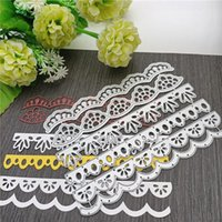 Painting Supplies 6Pcs Lace Metal Cutting Dies Stencil Die Cut DIY Scrapbooking Craft Stamps Christmas Embossing 2021 Cutter