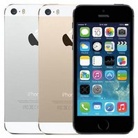 الأصلي تم تجديده Apple iPhone 5S مع بصمة 4.0 بوصة 1 جيجابايت رام 16 جيجابايت / 32 جيجابايت / 64 جيجابايت المزدوج النواة ios a7 8.0mp مقفلة 4 جرام lte الهاتف الذكي بالجملة مجانا dhl 30 قطع