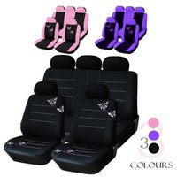 Car Seat Covers Handmade Butterfly Embroidery Cover 100% Breathable Washable Fit Most Automobile Such For Kia