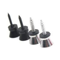 2PCS الكهربائية غيتار حزام قفل دبابيس الوتد المعدنية للكهرباء الصوتية الأسود / الفضة اختياري