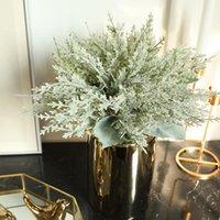 12pcs flores artificiais seda plantas verdes folhas de reais toque falso decoração casamento parede home micro paisagem hwd6939